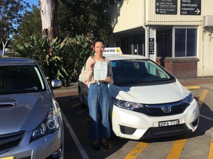恭喜Olivia一次过拿到full licence!